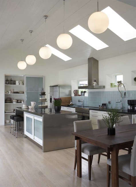 Kitchen: Globe Pendant Lights In Multiples
