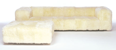 Furniture: Sheepskin-Covered Seating - Remodelista