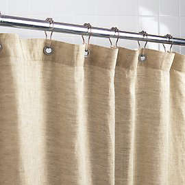 6ad2a49b313 Above  Naturally mildew resistant flax-based Linen Shower Curtain   59 at  Gaiam.