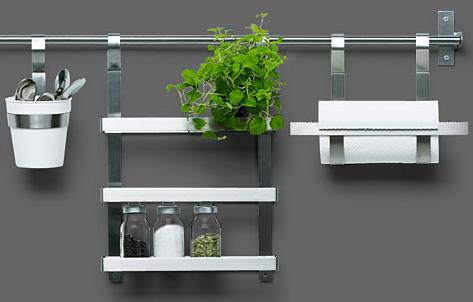 Kitchen: Open Rail Storage Systems - Remodelista