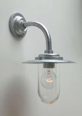 Galvanised Well Glass Outdoor Light