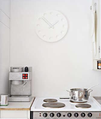 Design Sleuth White Kitchen Clocks