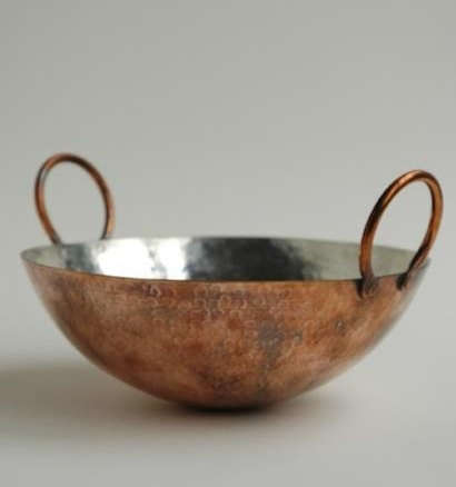 Tin Lined Copper Hand Hammered Wok