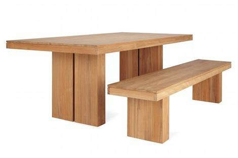 Kayu Teak Dining Bench - Teak table with benches