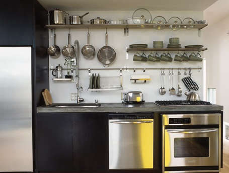 Kitchen Open Rail Storage Systems