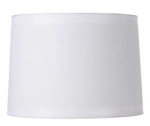 White Fabric Drum Lamp Shade