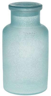 Blue beach glass bath accessories for Blue glass bath accessories