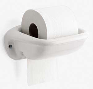 Above Lefroy Brooks Clic Spare Tissue Holder With Black Or White Ceramic Acorn Top 192 At Ira Woods
