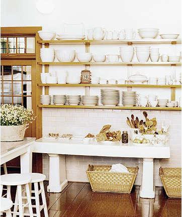 Below Even Martha Stewart Approves Of Open Shelving Here S A Shot Of Her Skylands Kitchen