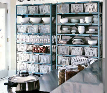 Restaurant Kitchen Storage kitchen: rustic salvage - remodelista