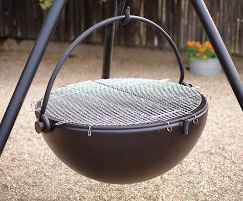 - Cowboy Cauldron Fire Pit And Grill