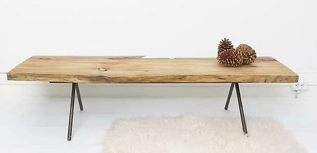 Furniture Natural Table Bench By Ohio Design