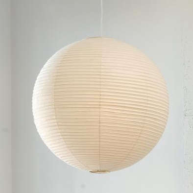 Barn S 19 30 Inch Globe Paper Lantern Also Available In Pink Blue Or Green A Similarly Sized Noguchi Original Below Is 370 At Akari