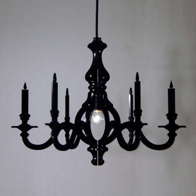 Lighting black chandeliers remodelista below at the other end of the price spectrum we like the black acrylic nocturne chandelier 249 at ponoko also available in white aloadofball Gallery