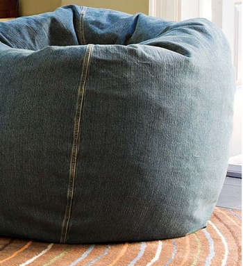 Washed Denim Beanbags