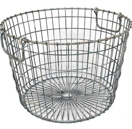 Wire Bins   Peddler S Round Wire Basket