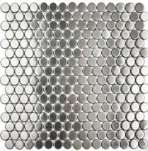 Stainless Steel Penny Round Tile