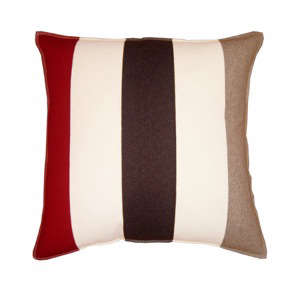 colore red white brown beige pillow. Black Bedroom Furniture Sets. Home Design Ideas