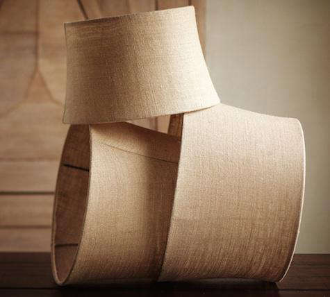 Burlap Tapered Drum Lamp Shade