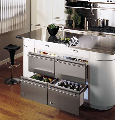 Above Sub Zero Offers A Trio Of Two Drawer Undercounter Refrigerator Drawer Configurations Refrigerator Only Freezer Only And A Combination