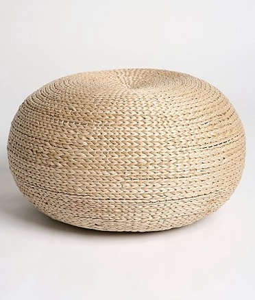 Outdoors Natural Fiber Poufs Remodelista