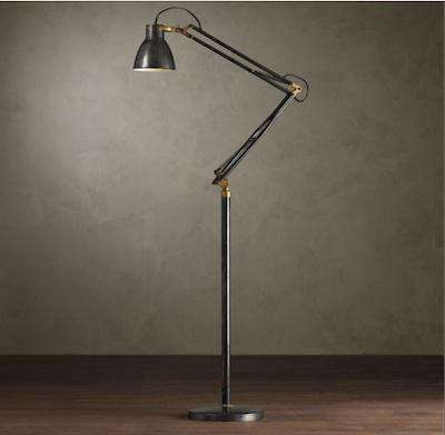 Studio task floor lamp 1930s studio task floor lamp mozeypictures Image collections
