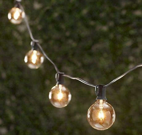 Outdoors: Caf?-Style String Lights - Remodelista