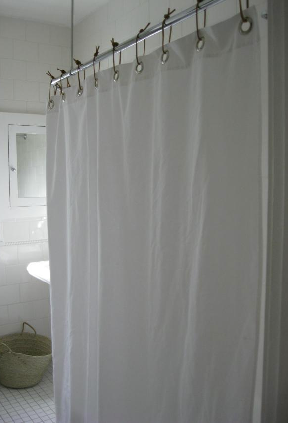 Shower Curtain Leather Ties