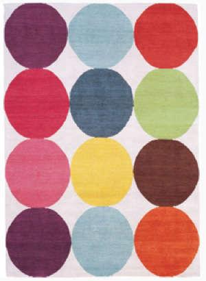 Multi Colored Chevron Bath Rug