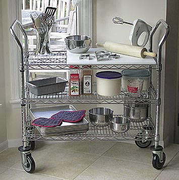 Beautiful Above: Heavy Duty Stainless Craft Wire Utility Cart Made For Professional  Kitchen Use Can Hold Up To 800 Pounds On Its Three Adjustable Shelves.