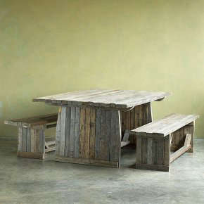 Sundance Barnwood Picnic Table Benches - Barn wood picnic table