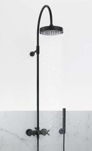 exposed pipe shower . Above  Cifial Exposed Shower Kit with 8 inch showerhead 1 570 at eFaucets 10 Easy Pieces Wall Mounted Showers Remodelista