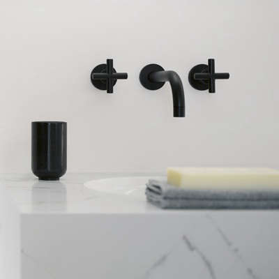 Bath Dornbracht Tara Black And White Edition Faucets