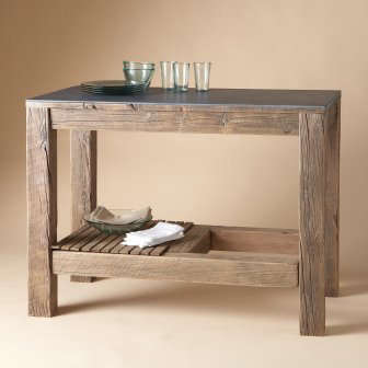 This Rustic, Free Standing Counter Could Serve As A Kitchen Island, Bar, Or  Buffet; $1,795 From The Sundance Catalog.