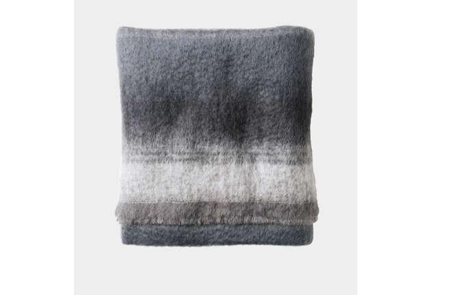 Tonal Mohair Wool Blanket