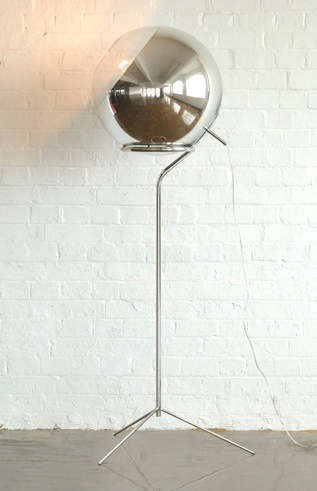 Tom dixon mirror ball floor lamp remodelista tom dixons shiny mirror ball pendants but we also like his mirror ball floor stand with the mirror ball floor lamp available from y lighting aloadofball Choice Image
