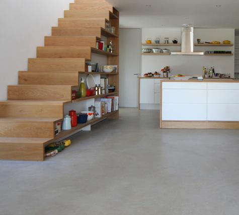Under Stairs Kitchen Storage view in gallery Above Two Photos A Scandinavian Inspired House By Uk Based Linea Studio Features Kitchen Storage Shelves Under The Stairs Photo By Kathryn Tyler