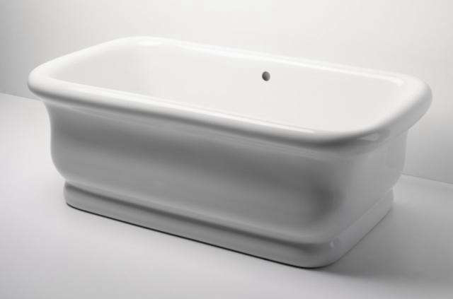 above made of a composite material that provides thermal insulation the waterworks empire bathtub is at waterworks