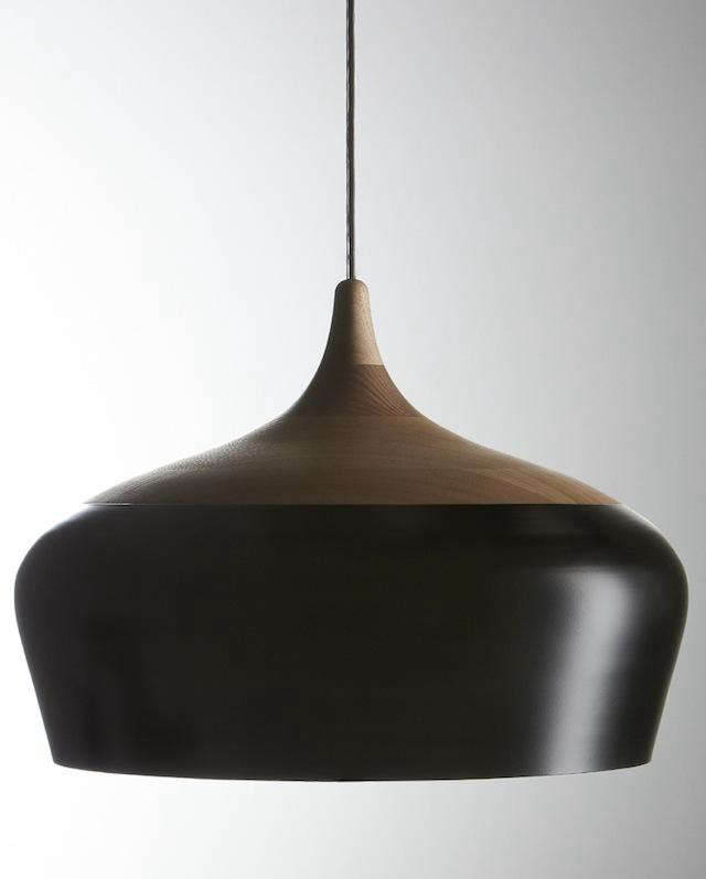 Above The Coco Pendant Featuring A Turned Ash Cap With Powder Coated Spun Aluminum Shade Is Available In Two Sizes And Black Or White 1 800