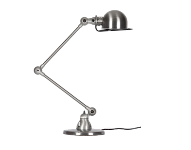 Above designed by jean louis domecq in the 1950s the french jielde signal desk lamp is an industrial age classic it is available in 17 different colors