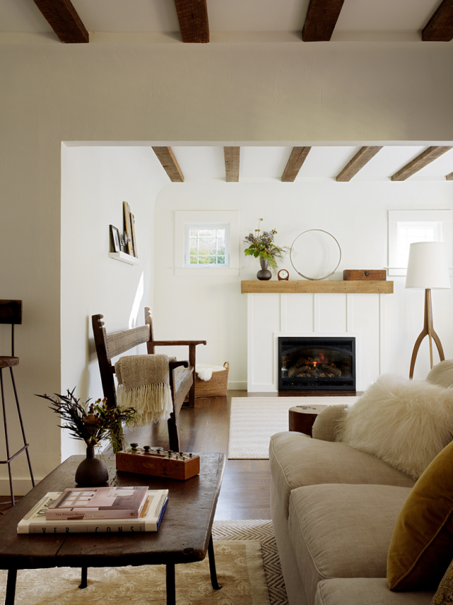 Charmant Above: To Match The Spanish Revival Architecture, Davin Added Wooden Beams  To The Ceilings And A New Fireplace Surround (her Firm Also Offers  Architectural ...
