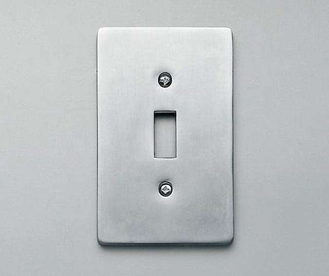Above Restoration Hardware Offers An Aluminum Switch Plate Cover 9 50