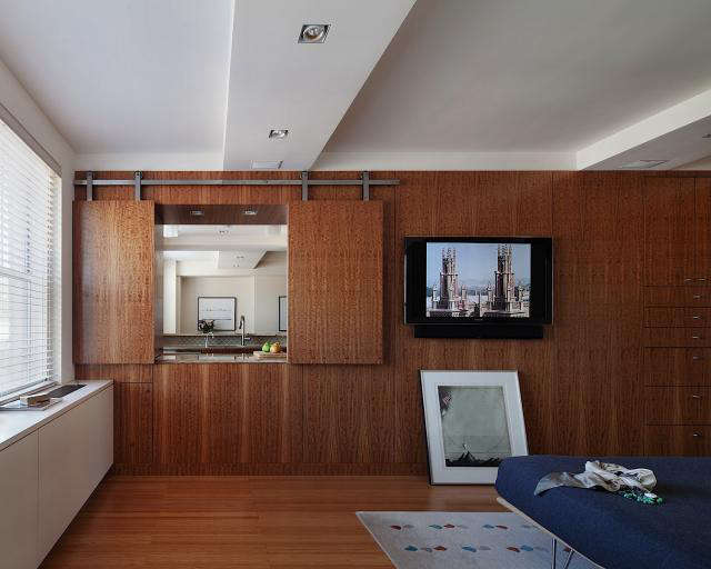 Above: The Bedroom Opens To The Kitchen And Living Area Through An Internal  Window, With Shutters On A Sliding Track. When The Window Is Open, ...