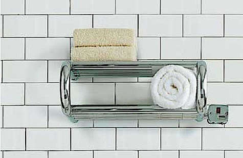 Bath Towel Warmer Rack toasty towels courtesy of warming shelves