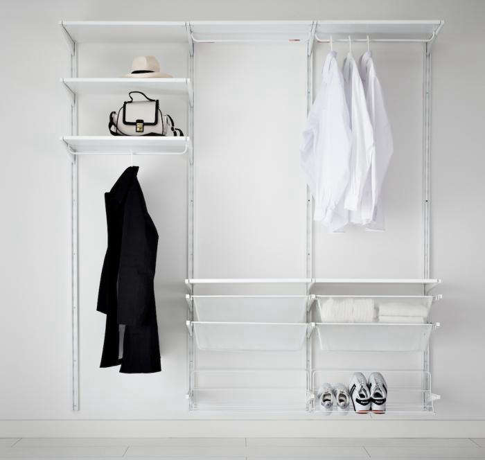 Above: Turn A Wall Into An Instant Wardrobe With The Super Affordable Ikea  Algot Clothes Storage System. The Functional Parts Can Be Assembled In Many  ...