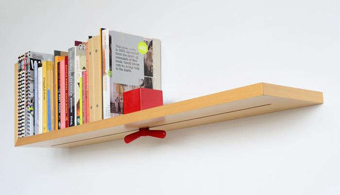 Above Hold On By Colleen And Eric The Bookend Cube Wing Nut Is Made Of Powder Coated Aluminum Shelf Beech Wood