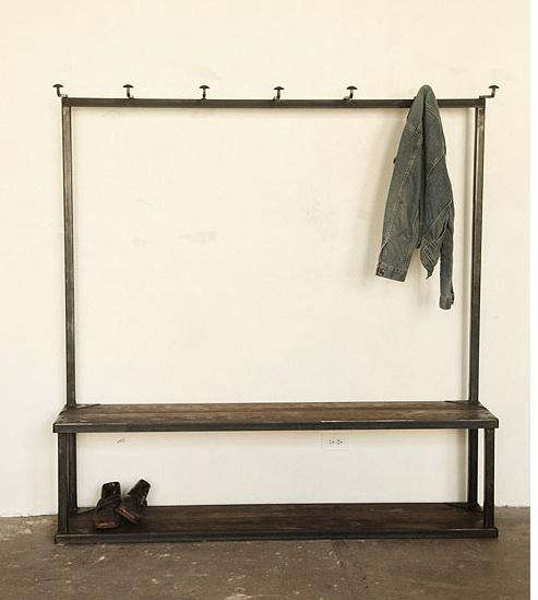 Storage Coat Rack Bench At Strawser Smith In Brooklyn Remodelista Inspiration Coat Rack Bench