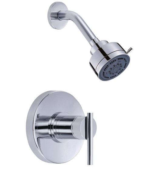 one piece shower faucet. Above  San Francisco architect Christi Azevedo s affordable fixture choice is the Danze Parma Single Handle Shower Faucet in chrome which includes a shower 10 Easy Pieces Modern Fixtures Remodelista