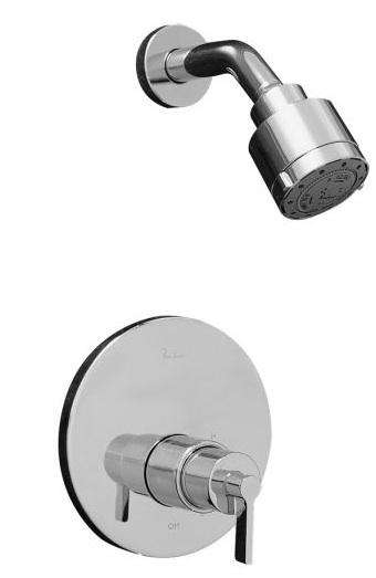 Above: The Porcher Chipperfield One Handled Shower Faucet Kit includes  shower head and valve trim; $455 in polished chrome at eFaucets.