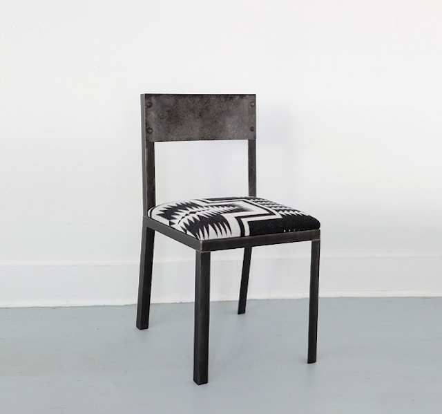 Made From Industrial Steel And Upholstered In Wool From The Pendleton  Woolen Mills In The Pacific Northwest, The Chair Is Available From Object  In Seattle.